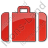Baggage Plain Red Icon, PNG/ICO, 48x48