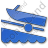Boat Ramp Plain Blue Icon