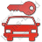 Car Safety Plain Red Icon, PNG/ICO, 48x48