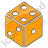 Casino Dice Plain Orange Icon