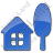 Cottage Plain Blue Icon, PNG/ICO, 48x48