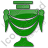 Crematorium Plain Green Icon