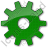 Gear Plain Green Icon