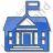 Government Facility Plain Blue Icon