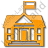 Government Facility Plain Orange Icon, PNG/ICO, 48x48