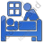 Hospice Plain Blue Icon, PNG/ICO, 48x48