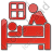 Hospice Plain Red Icon, PNG/ICO, 48x48
