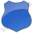 Police Badge Plain Blue Icon