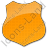 Police Badge Plain Orange Icon