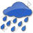 Rain Plain Blue Icon, PNG/ICO, 48x48