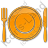 Restaurant Tableware Plain Orange Icon