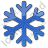 Snow Plain Blue Icon, PNG/ICO, 48x48