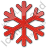 Snow Plain Red Icon, PNG/ICO, 48x48