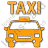 Taxi Plain Orange Icon, PNG/ICO, 48x48