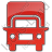 Truck Plain Red Icon, PNG/ICO, 48x48