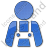 Worker Plain Blue Icon