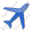Airport Plain Blue Icon, PNG/ICO, 64x64