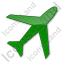 Airport Plain Green Icon