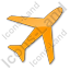 Airport Plain Orange Icon