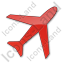 Airport Plain Red Icon