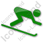 AlpineSkiing Plain Green Icon