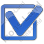 Approved Plain Blue Icon