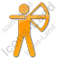 Archery Plain Orange Icon, PNG/ICO, 64x64