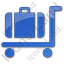 Baggage Cart Plain Blue Icon