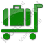 Baggage Cart Plain Green Icon