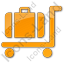 Baggage Cart Plain Orange Icon