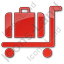 Baggage Cart Plain Red Icon