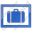 Baggage Storage Plain Blue Icon