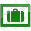 Baggage Storage Plain Green Icon