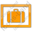 Baggage Storage Plain Orange Icon