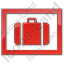 Baggage Storage Plain Red Icon