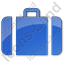 Baggage Plain Blue Icon