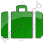 Baggage Plain Green Icon
