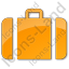 Baggage Plain Orange Icon