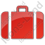 Baggage Plain Red Icon