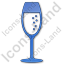 Bar Champagne Plain Blue Icon