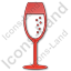 Bar Champagne Plain Red Icon, PNG/ICO, 64x64