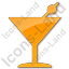 Bar Martini Plain Orange Icon