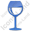 Bar Wine Plain Blue Icon, PNG/ICO, 64x64