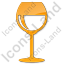 Bar Wine Plain Orange Icon, PNG/ICO, 64x64