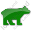Bear Plain Green Icon