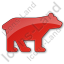 Bear Plain Red Icon