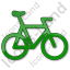 Bicycle Plain Green Icon, PNG/ICO, 64x64
