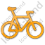 Bicycle Plain Orange Icon