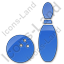 Bowling Plain Blue Icon, PNG/ICO, 64x64