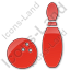 Bowling Plain Red Icon